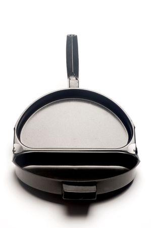 sided: omelet omelette two sided split frying pan