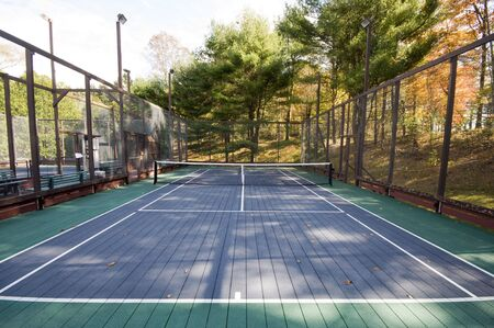 platform tennis paddle game sports court at private suburban club Stock fotó