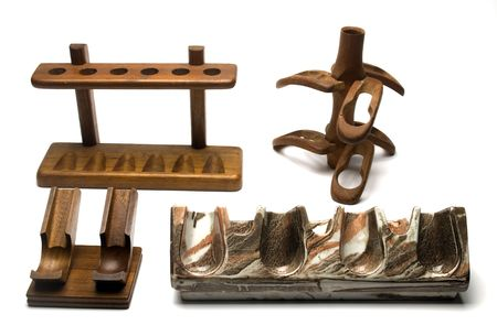 collection of variety of smoking pipe racks in modern classic and artistic styles photo