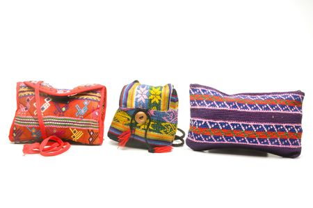 change purses: group of colorful handbags purses coin change holders and satchels made in honduras panama guatemala nicaragua in central america