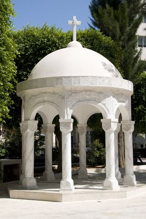 dome gazebo building in agia napa greek orthodox cathedral compound in limassol lemesos cyprus