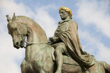 statue Napoleon Bonaparte  in Diamant Square Ajaccio Corsica France