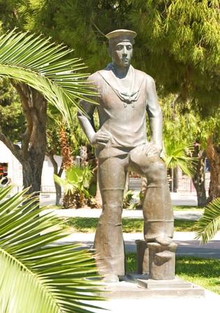 Sailor Monument in seaside Sculpture Park Limassol Lemesos Cyprus Фото со стока - 7632609