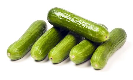 persian mini seedless cucumbers Stock Photo - 7632625
