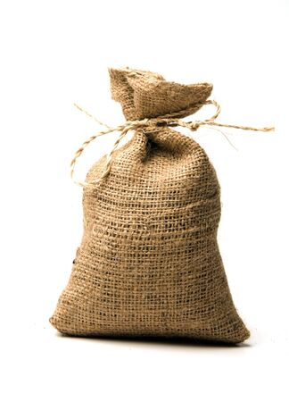 Nicaragua: small burlap sack for ground coffe or bean made in Nicaragua Stock Photo