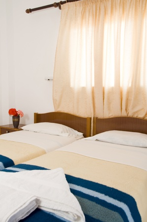 Greek Island room to let guest house interior architecture Ios Cyclades Greece