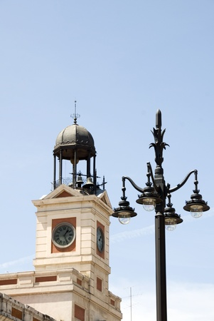 lampost: clock tower chimes on New Year