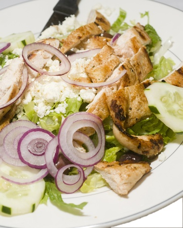 chees: Greek salad with farmer