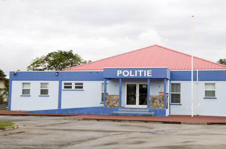 dutch: police station Oranjestad St. Eustatius Statia Dutch Netherlands Antilles island