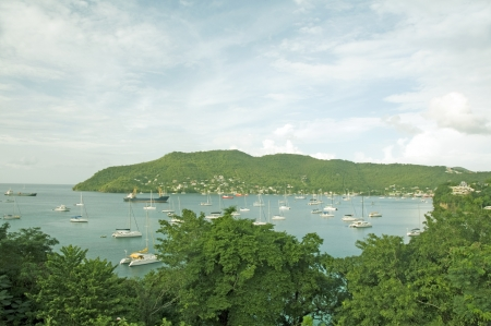 elizabeth:   Port Elizabeth harbor yachts panorama Bequia St. Vincent and The Grenadines