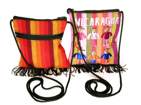 hand woven: colorful hand woven bags purses made in Masaya Nicaragua Central America