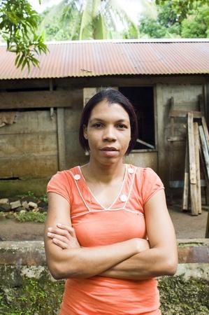 big island:  portrait native lady house Nicaragua Corn Island