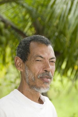 nicaraguan: native Nicaraguan man head shot environmental  portrait  Corn Island Nicaragua