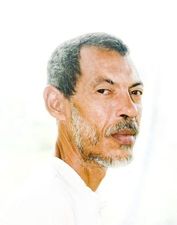 nicaraguan: native Nicaraguan man head shot  portrait  Corn Island Nicaragua Stock Photo