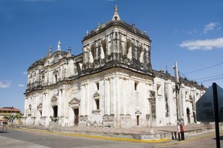 america centrale: Cattedrale di Leon Nicaragua America centrale