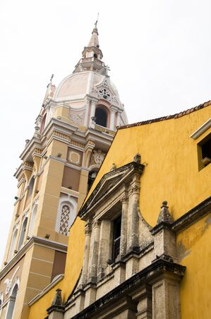 Cathedral Cartagena de Indias and Temple of Siglo Colombia Cartagena historic architecture photo