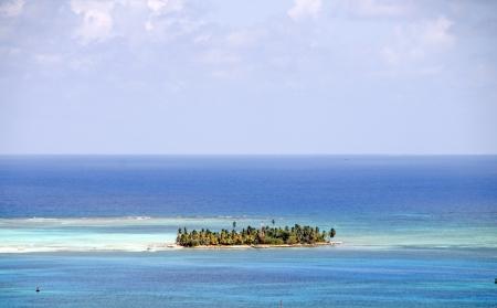 onbewoond: onbewoonde Johnny Caye strand Caribische Zee San Andres Island Colombia Zuid-Amerika Stockfoto