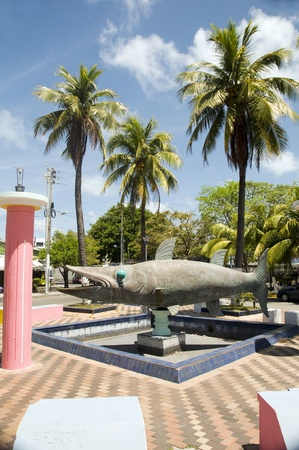 barracuda: barracuda fish monument statue in park San Andres Island Colombia South America