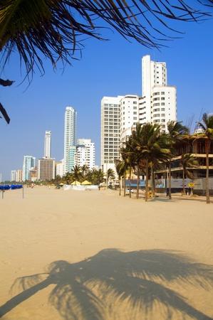 ホテル ・ オフィス開発ボカグランデ ビーチ カルタヘナ コロンビア南米 写真素材