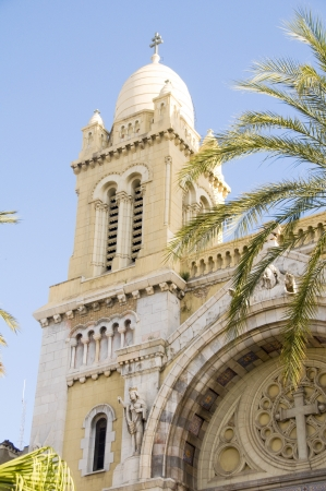 The Cathedral of St Vincent de Paul is a Roman Catholic cathedral Avenue Habib Bourguiba  in Tunis Tunisia Africa Stock Photo - 14022093