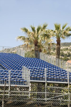 grandstand: gallery seating stands for Grand Prix automobiile race Monaco Monte Carlo