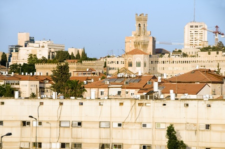 rooftop view of Palestine Jerusalem Israel with offices residences and historic architecture