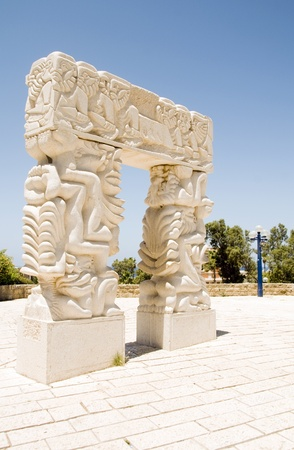 The Gate of Faith in Peak Park in old historic Jaffa Tel Aviv Israel photo