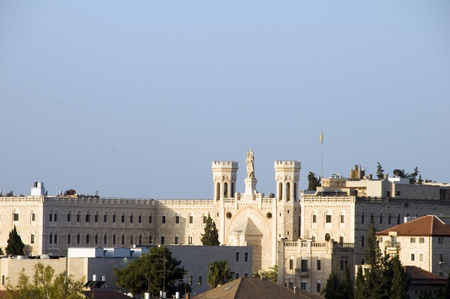 rooftop view Jerusalem Palestine Israel architecture with mosque temples churches Imagens - 14787706