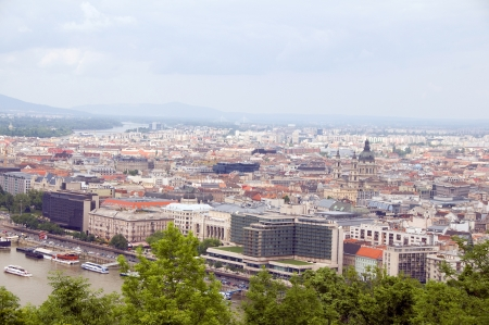 stock vista: Budapest Hungary cityscape landscape panorama with Danube River