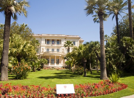 Musee Museum Massena with flower garden The French Riviera Nice France photo