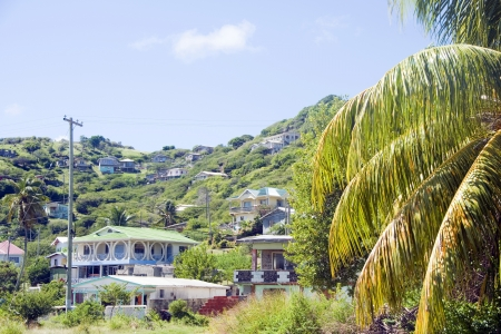grenadines: landscape typical houses Clifton Union Island St. Vincent and the Grenadines in Caribbean