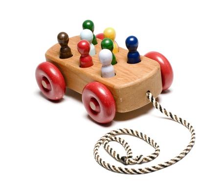 pull toy: hechos a mano niños costosos trenes de madera