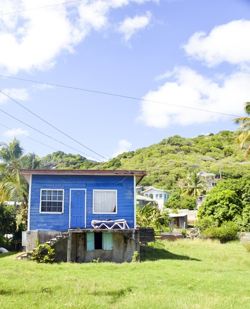 grenadines: historic 66 year old Caribbean architecture residence Union Island St. Vincent and the Grenadines