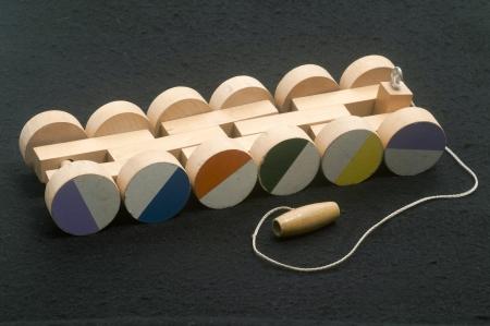 pull toy: hechos a mano de madera de juguete vehículo de tracción