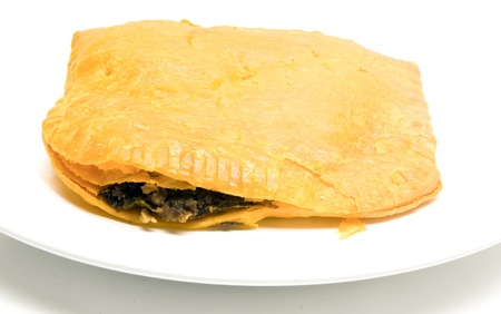 jamaican: Jamaican style beef patty pattie fried pastry food