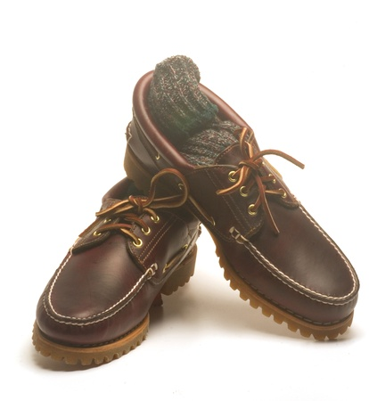 casual rugged moccasin style men leather shoes sturdy waterproof with leather laces