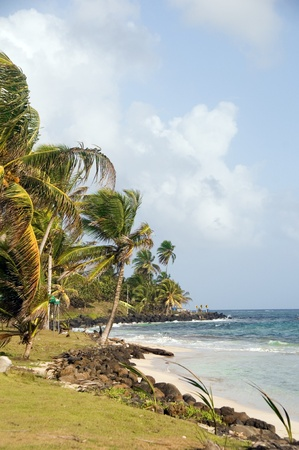 undeveloped: Sally Peaches beach Sally Peachie Big Corn Island Nicaragua Caribbean Sea palm coconut trees