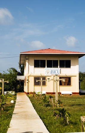 corn island: Big Corn Island, Nicaragua-April 3: The Bluefields Indian & Caribbean University is the only school of higher learning and is seen here in Corn Island, Nicaragua.