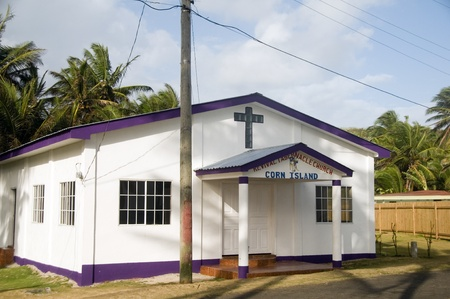 tabernacle: Big Corn Island, Nicaragua-April 2: The recently completed Revival Tabernacle Church is well attended every Sunday in Sally Peach on Big Corn Island, Nicaragua, Central America.