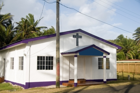 tabernacle:   Revival Tabernacle Church   Sally Peach on Big Corn Island, Nicaragua, Central America