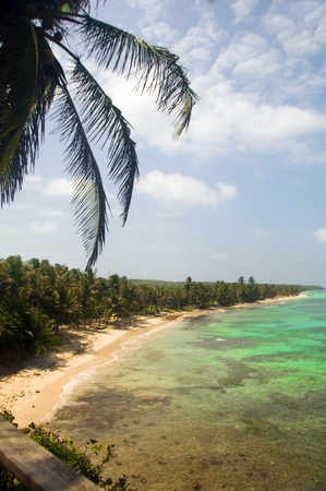 undeveloped: undeveloped Iguana Beach Little Corn Island Nicaragua Central America on Caribbean Sea Stock Photo