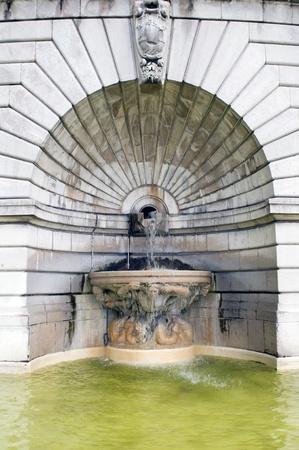 sacre: fountain sculpture Basilica Sacred Heart Sacre Couer Paris France
