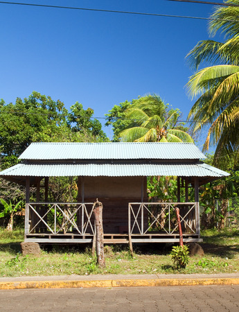 corn island: architecture local restaurant with zinc sheet metal roof Big Corn Island Nicaragua Central America
