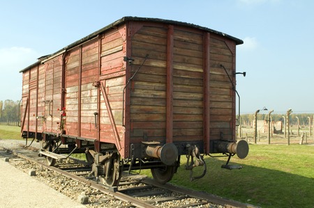 Holocaust Death Camp cattle car train Nazi Germany concentration camp Auschwitz-Birkenau Imagens - 26944977