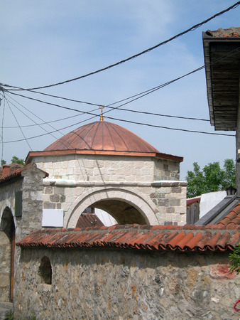 historic Osmanagic Mosque  in Old Town Stara Varosh in capital Podgorica Montenegro Europe Фото со стока