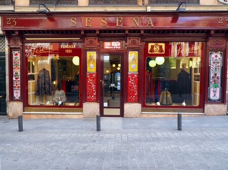 capes: MADRID-MAY7:  Sesena, a continuously operating tailor shop specializing in making capes is seen in Madrid, Spain on May 7, 2015.