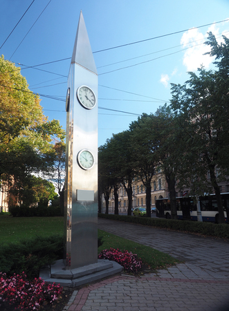 Kobe Friendship Clock in Riga, Latvia, Europe