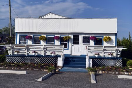 restaurant building in Montauk, New York,