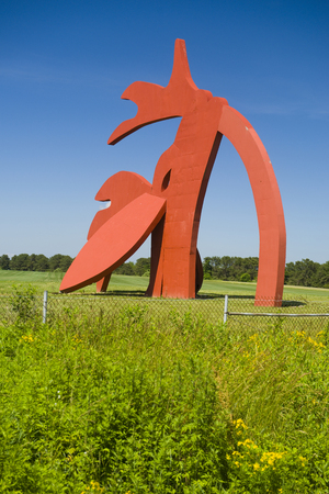 MANORVILLE, NEW YORK-JUNE 17: The Stargazer outdoor sculpture by Linda Scott, commissioned by the Animal Rescue Fund (ARF), is seen in Manorville, New York as gateway to The Hamptons on June 17, 2018.