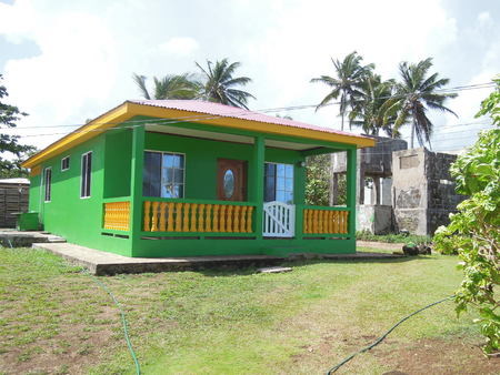 cement house typical architecture Big Corn Island Nicaragua Central America